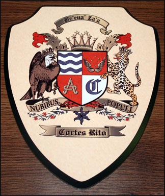 Shield Plaque Custom Coat of Arms