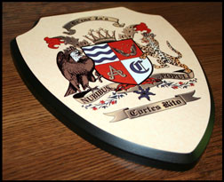 Shield Plaque Side View