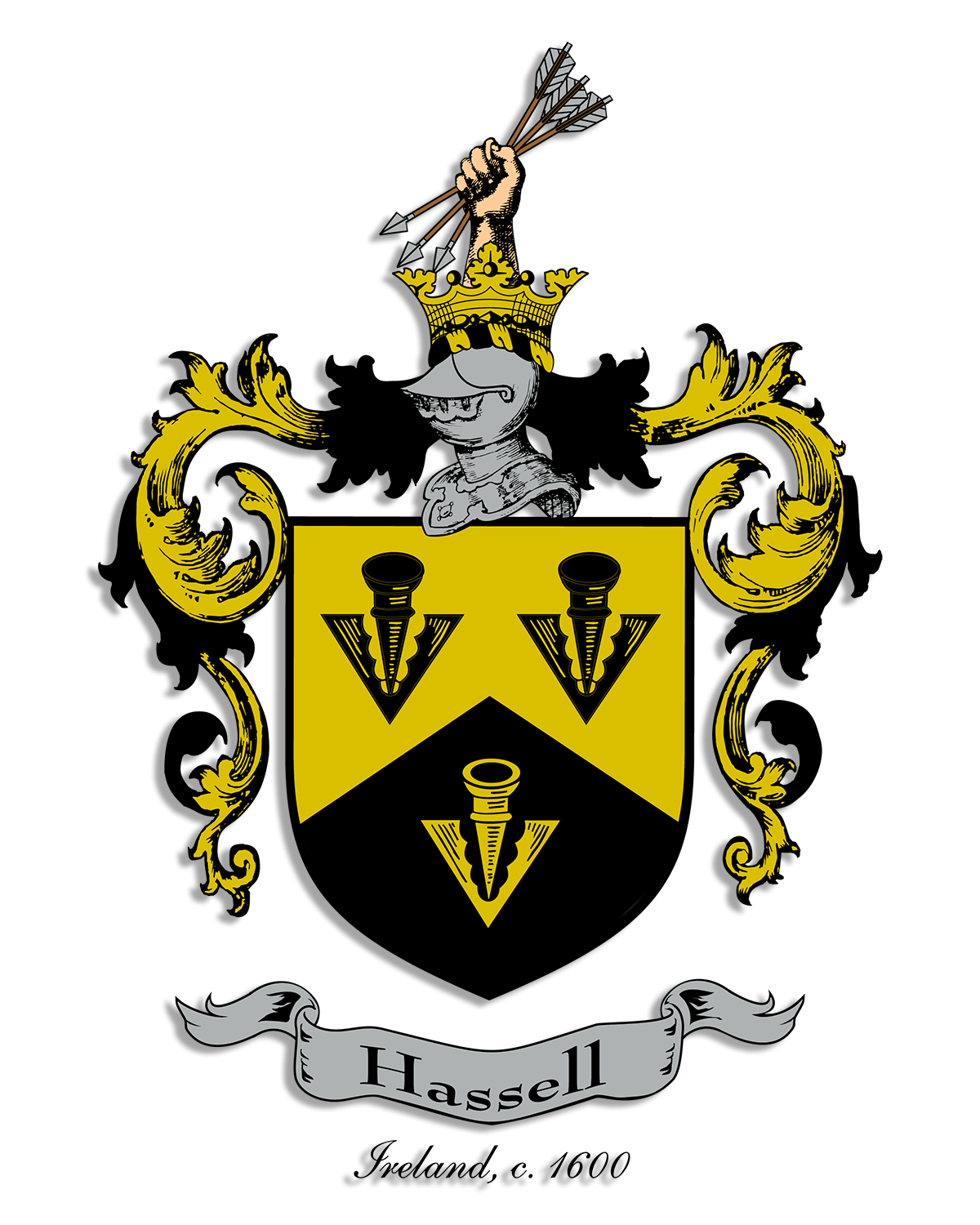 Fleur de lis designs hassell coat of arms and crest designs hassell coats of arms and crests buycottarizona Images