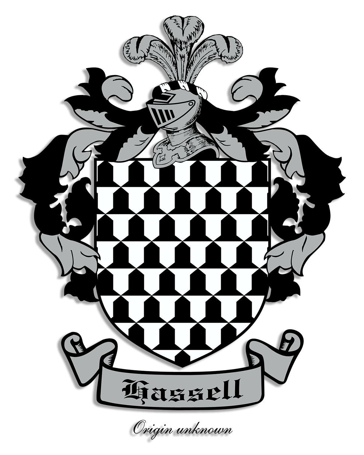 Fleur de lis designs hassell coat of arms and crest designs arms vaire argent and sable geographic region date unknown source burkes general armory of england scotland ireland and wales buycottarizona Images