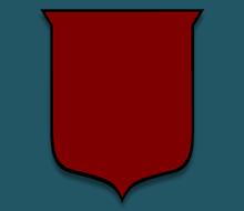 Edged Shield Shape Fleur-de-lis Designs: ...