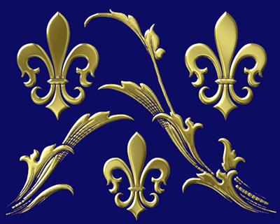 fleur-de-lis designs: the fleur-de-lis