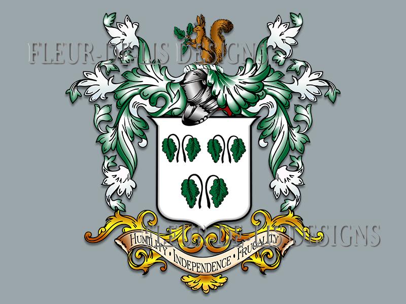 Fleur De Lis Designs Family Coat Of Arms And Crest Designs