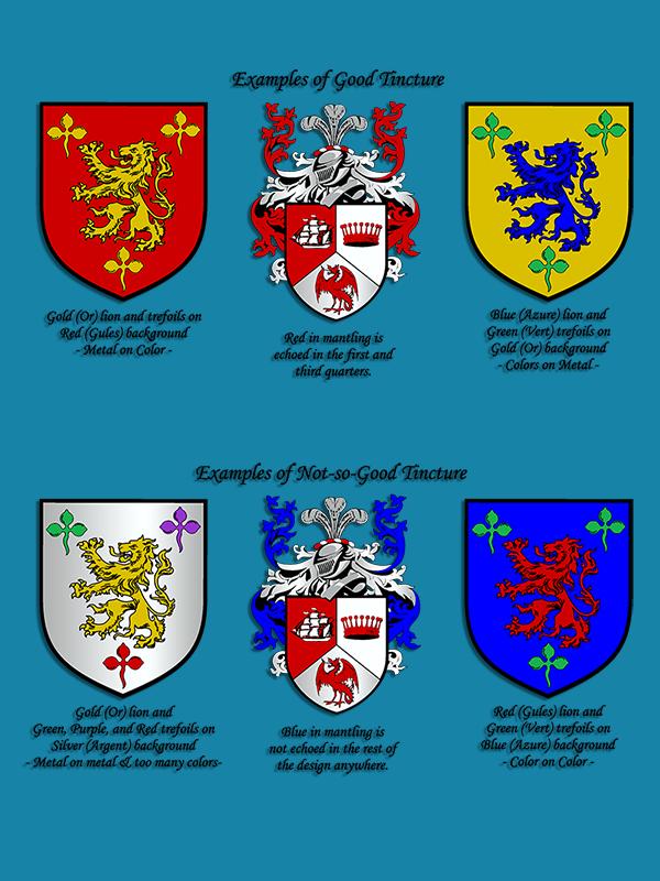 Fleur De Lis Designs Tinctures And Composition For Custom Crests